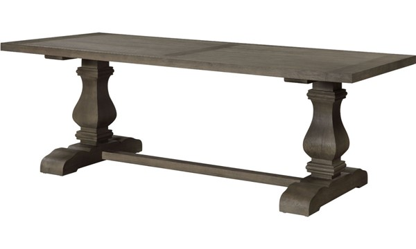 Acme Furniture Ruby Rustic Gray Oak Dining Table ACM-72870