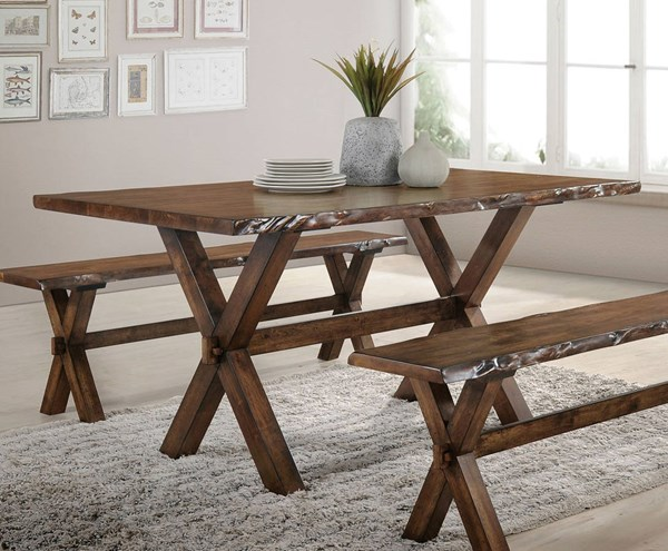 Acme Furniture Tratha Antique Oak Dining Table ACM-72900