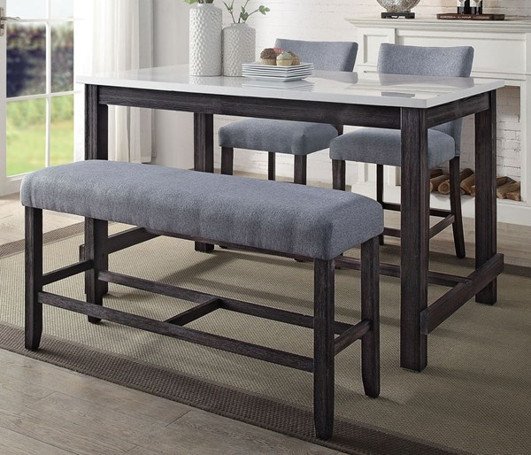 Acme Furniture Yelena Gray Weathered Espresso 4pc Counter Height Set ACM-7294-CHT-S1