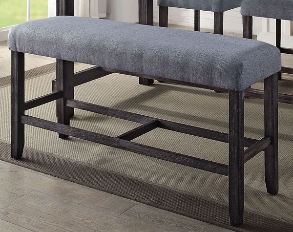 Acme Furniture Yelena Gray Weathered Espresso Counter Height Bench ACM-72943