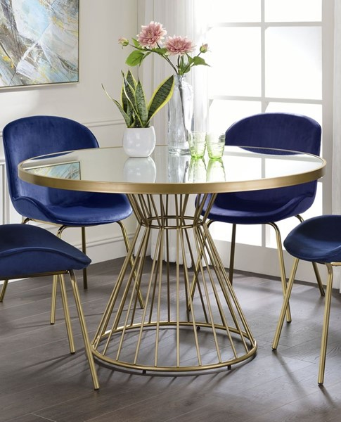 Acme Furniture Chuchip Mirrored Gold Dining Table ACM-72945