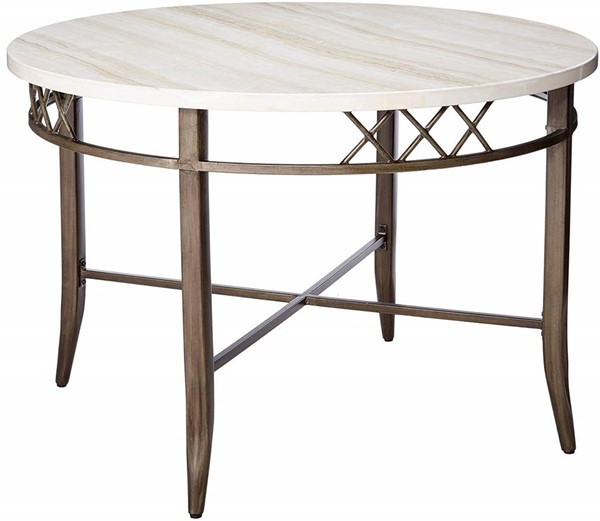Acme Furniture Aldric Antique Metal Dining Table ACM-73000