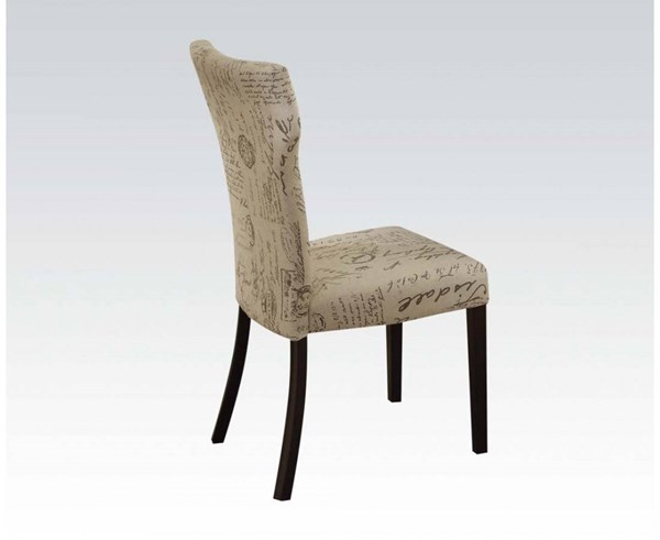 2 Zeph Black Fabric Wood Metal Padded Seat & Back Side Chairs ACM-73017