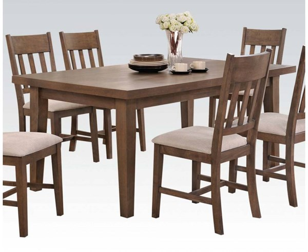 Acme Furniture Ulysses Weathered Oak Dining Table ACM-73060