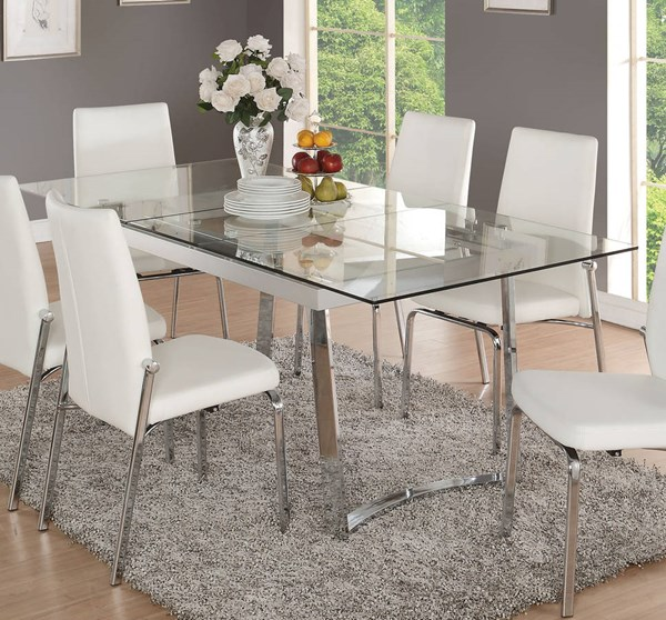 Acme Furniture Osias Clear White Dining Table ACM-73150