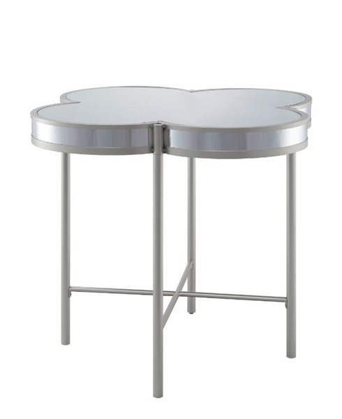 Acme Furniture Clover Silver Champagne 3pc Counter Height Set ACM-7322-BAR-S1