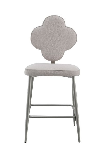 2 Acme Furniture Clover Beige Champagne Counter Height Chairs ACM-73227