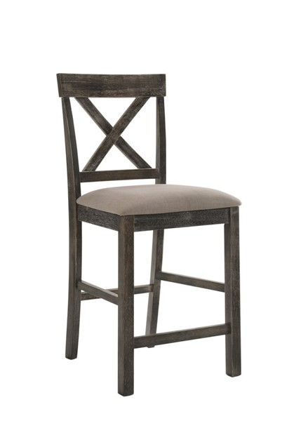 2 Acme Furniture Martha II Weathered Gray Counter Height Chairs ACM-73832
