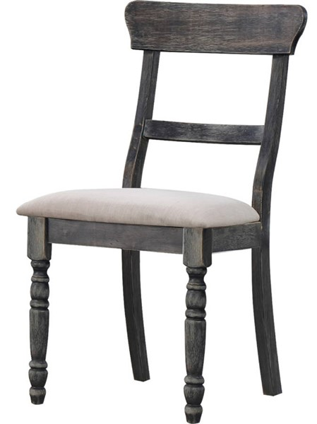 2 Acme Furniture Leventis Light Brown Weathered Gray Side Chairs ACM-74642