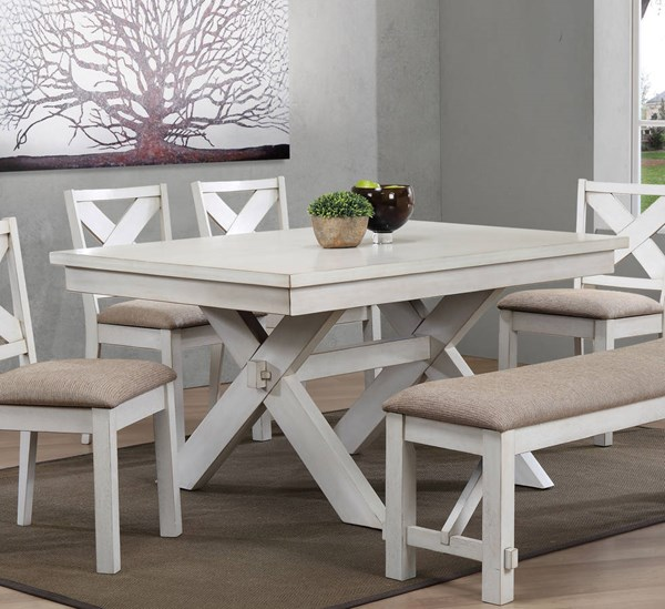 Acme Furniture Apollo Antique White Rectangle Dining Table ACM-74660