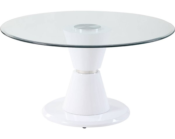 Acme Furniture Kavi Clear White Dining Table ACM-74935