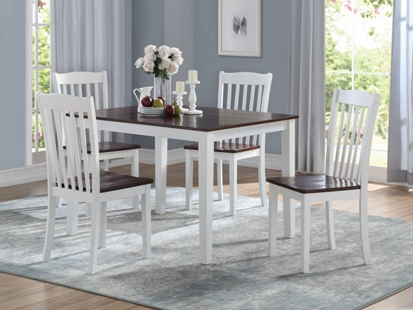 Acme Furniture Greenleigh White Walnut 5pc Dining Set ACM-77065