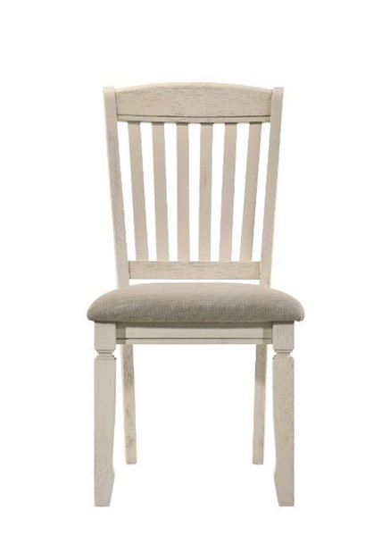 2 Acme Furniture Fedele Tan Cream Side Chairs ACM-77192