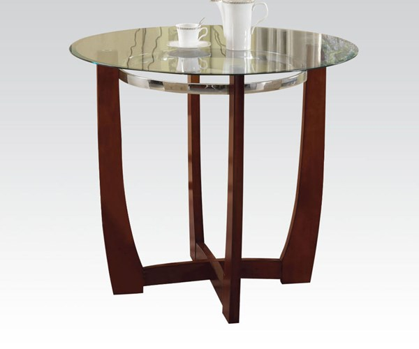 Baldwin Walnut Wood Glass Counter Height Table ACM-77815