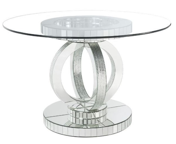 Acme Furniture Ornat Clear Dining Table ACM-77835