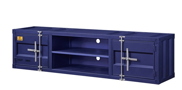 Acme Furniture Cargo Blue Metal TV Stand ACM-91890