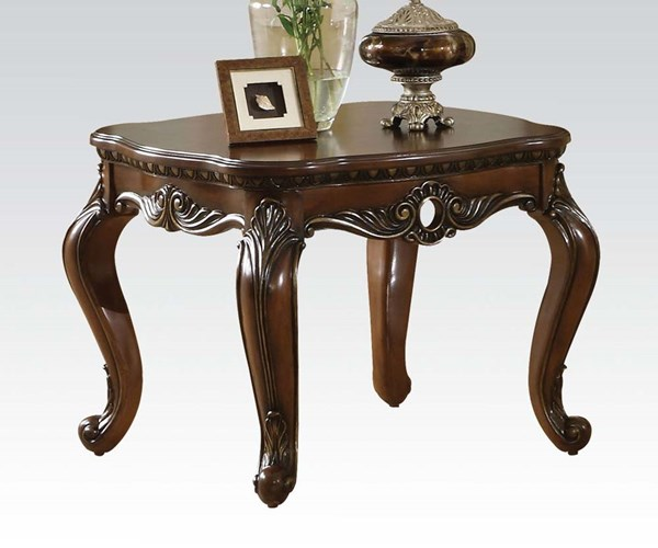 Remington Traditional Brown Cherry Wood End Table ACM-80065