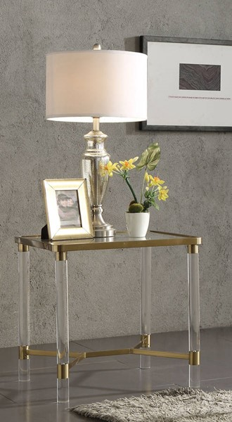 Acme Furniture Penstemon Gold End Table ACM-80097