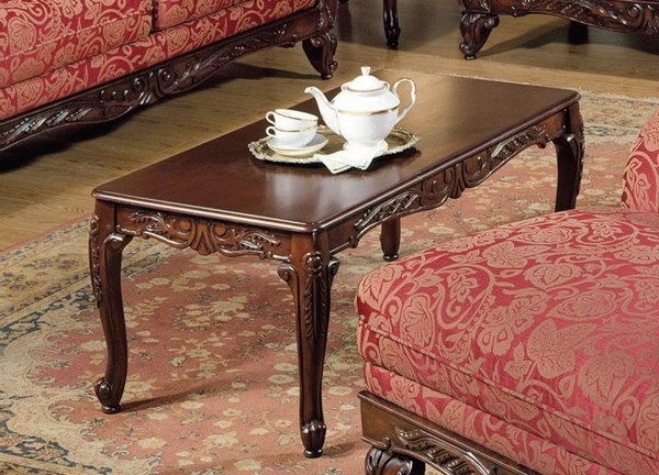 Fairfax Collection Brown Wood 3Pc Pack Coffee/End Table Set ACM-80234