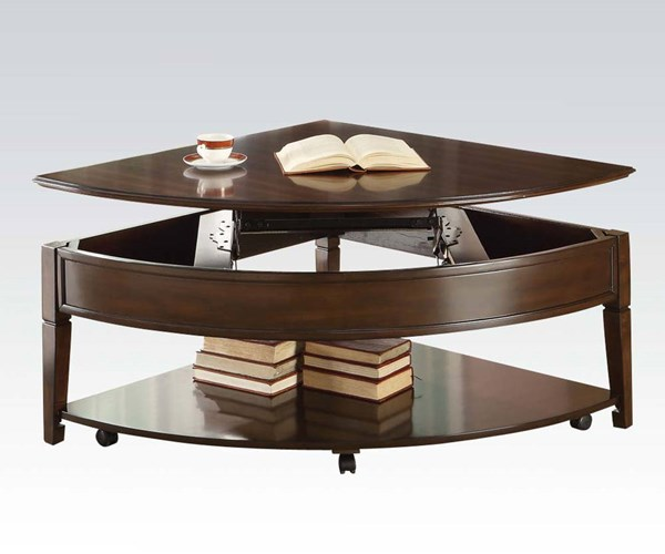 Malachi Walnut Wood Wedge Coffee Table w/Lift Top ACM-80256