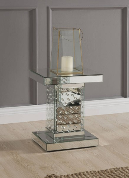 Acme Furniture Nysa Mirror Square End Table ACM-80284