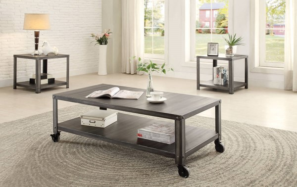 Sarina Antique Black Metal Coffee Table Set ACM-80370-OCT