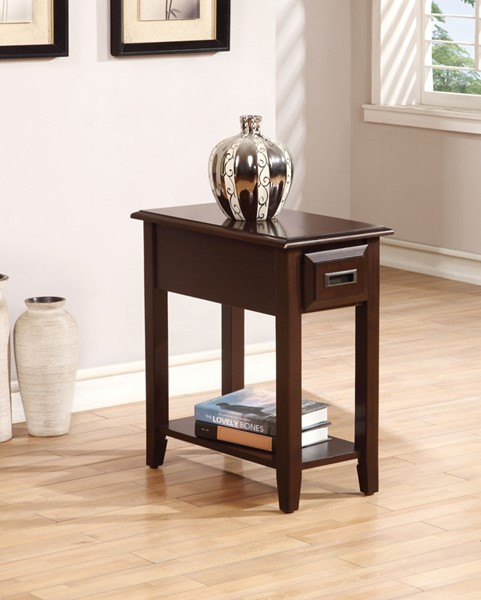 Acme Furniture Flin Dark Cherry Side Table ACM-80518