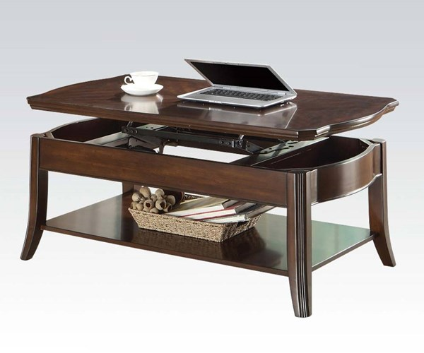 Keenan Walnut Wood Lift Top Coffee Table The Classy Home