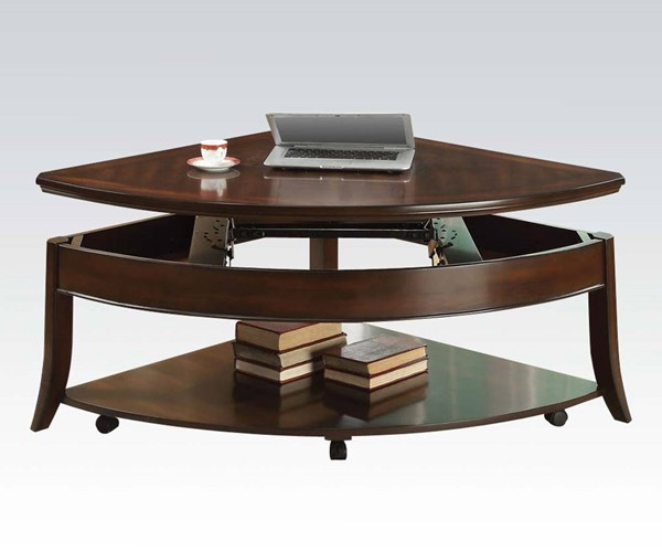 Keenan Walnut Wood Wedge Lift Top Coffee Table ACM-80548