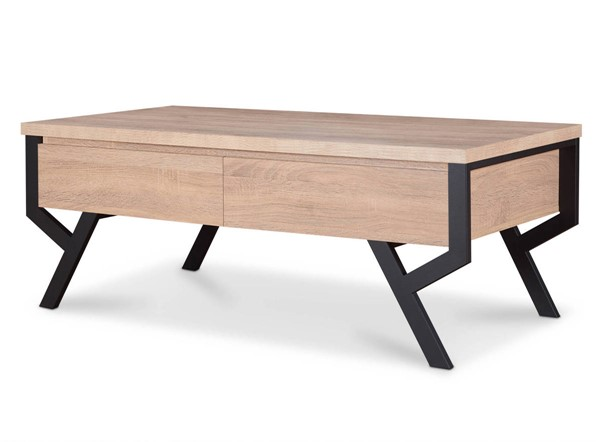Acme Furniture Kalina Rustic Natural Black Coffee Table ACM-80585