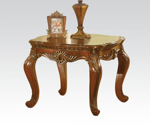 Dorothea Classic Cherry Wood Rectangle End Table ACM-80591