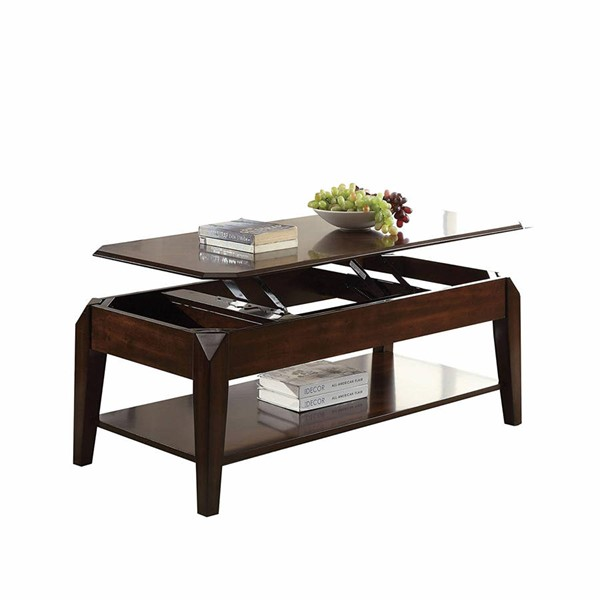 Acme Furniture Docila Walnut Coffee Table with Lift Top ACM-80660