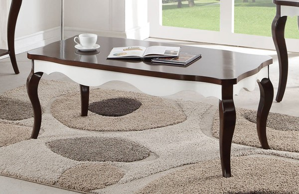 Acme Furniture Mathias Walnut White Coffee Table ACM-80680