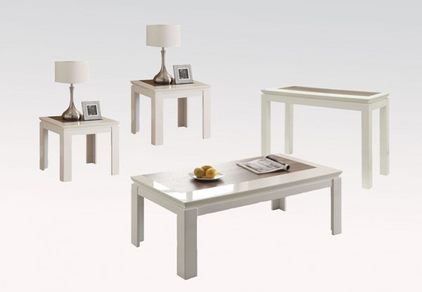 Kilee White Wood Occasional Table Set W/o Storage ACM-80724-25-OCT