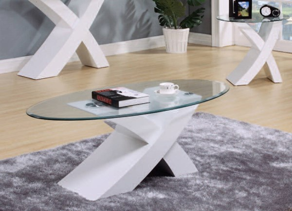 Pervis White Wood Glass 3pc Coffee Table Set ACM-80860-62-OCT-S