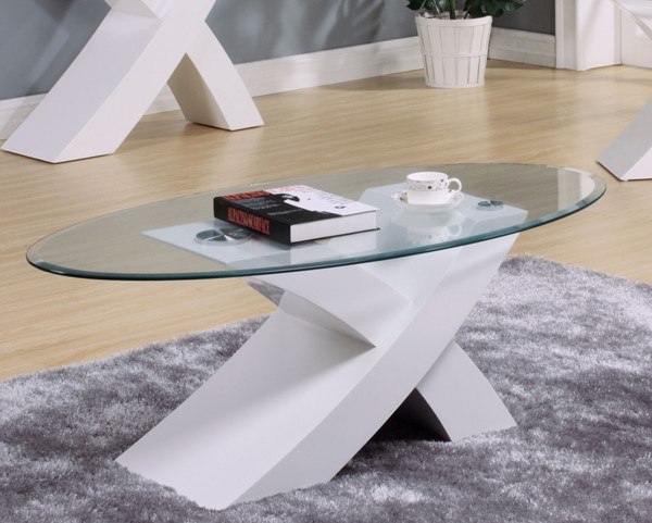 Acme Furniture Pervis White Coffee Table ACM-80860