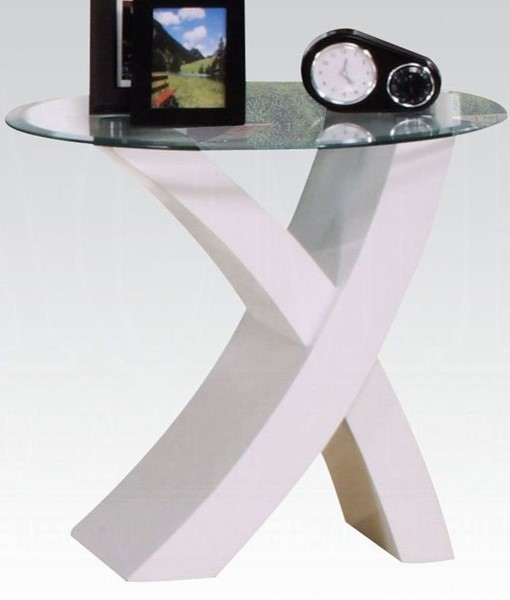 Acme Furniture Pervis White End Table ACM-80862