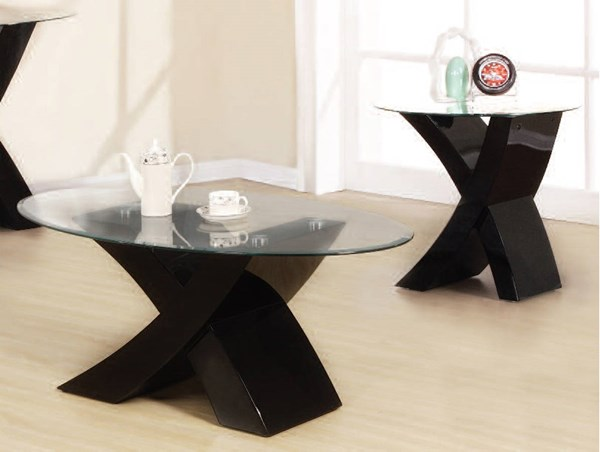 Pervis Black Wood Glass Coffee Table Set ACM-80865-67-OCT