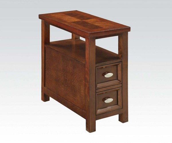 Perrie Cherry Wood Side Table w/Drawer & Open Compartment ACM-80921