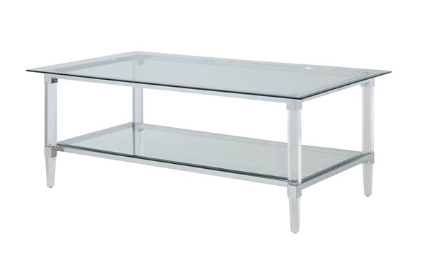 Acme Furniture Polyanthus Clear Coffee Table ACM-80940