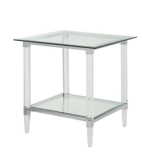 Acme Furniture Polyanthus Clear End Table ACM-80942