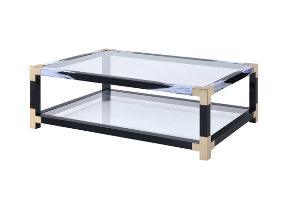 Acme Furniture Lafty White Clear Coffee Table ACM-81000