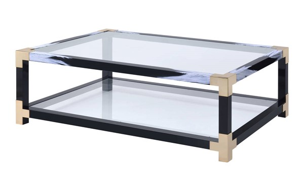 Acme Furniture Lafty White Black Coffee Table ACM-81000