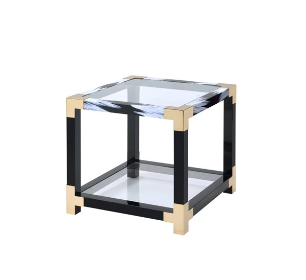 Acme Furniture Lafty White Clear End Table ACM-81002