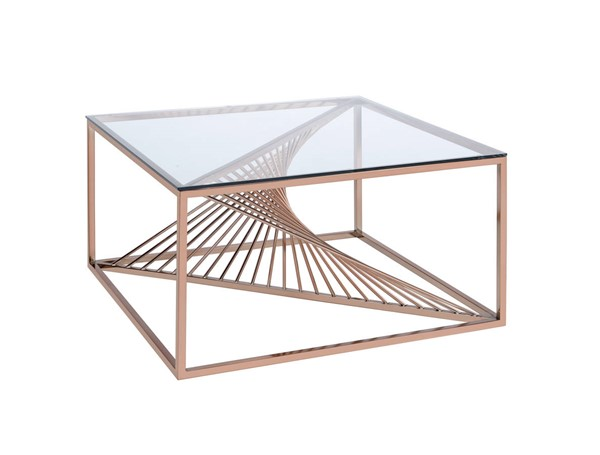 Acme Furniture Tralen Brushed Copper Coffee Table ACM-81005