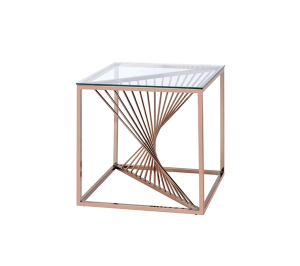 Acme Furniture Tralen Brushed Copper End Table ACM-81007