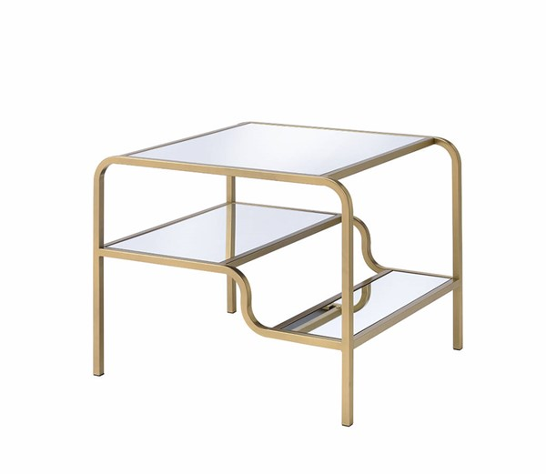 Acme Furniture Astrid Gold End Table ACM-81092