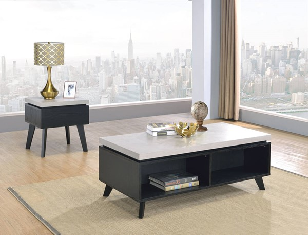 Acme Furniture Magna Black 3pc Coffee Table Set ACM-81095-OCT-S1