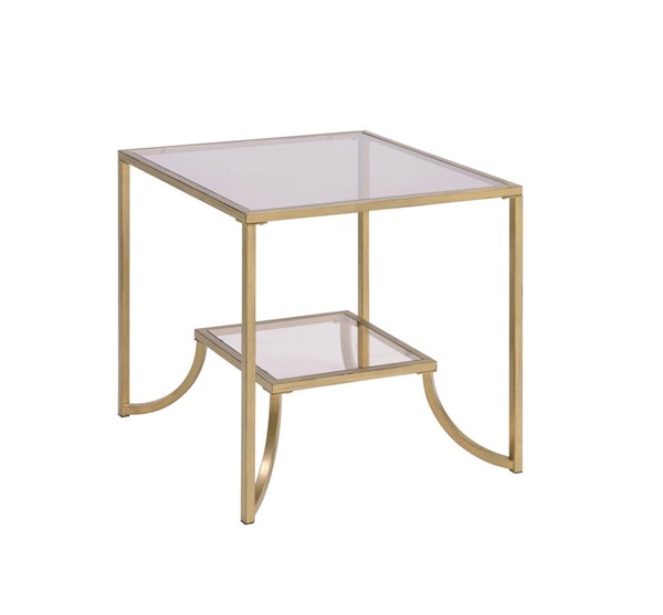 Acme Furniture Magalie Antique Gold End Table ACM-81117