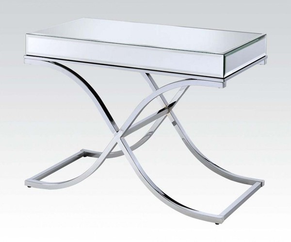 Yuri Metal Beveled Glass Metal Sofa Table ACM-81199